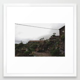Old Village Framed Art Print
