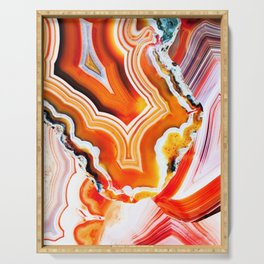 The Vivid Imagination of Nature, Layers of Agate Serving Tray
