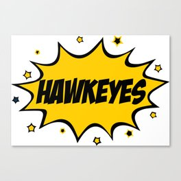 Iowa Hawkeyes Comic Canvas Print