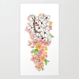 Shower Tree Art Print