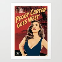 peggy carter Art Prints featuring Peggy Carter Goes West by Arne AKA Ratscape