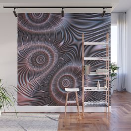 Bronze flower ornament Wall Mural