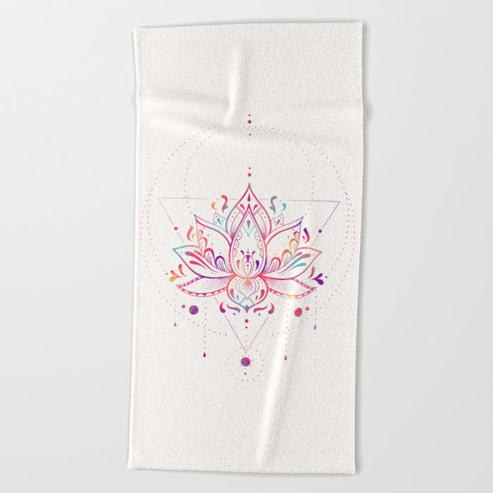 Lotus Prism Beach Towel