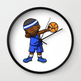 Kids Basketball Boy Dabbing Dab Gift Idea Wall Clock