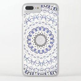 FESTIVAL SUMMER - FADED BLUE Clear iPhone Case
