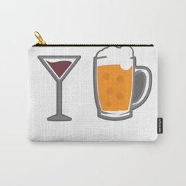 I Go Both Ways Wine Beer Drinking Alcohol Beer Wine Lover Carry-All Pouch