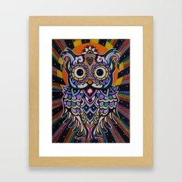 Radiant Owl. Framed Art Print