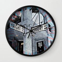 haight / ashbury Wall Clock