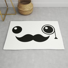 Cute Mr. Important Face Rug