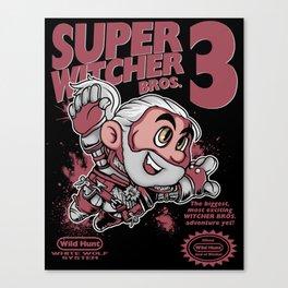 Super Witcher Bros. 3 Canvas Print