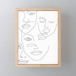 Different beauty Framed Mini Art Print