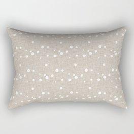 Modern Farm House Polka Dots Beige Rectangular Pillow