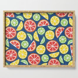 Vitamin C Super Boost - Citric Fruits on Blue Serving Tray