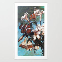 Clown Lillies Art Print