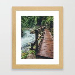 Vintgar Gorge, 3 Framed Art Print