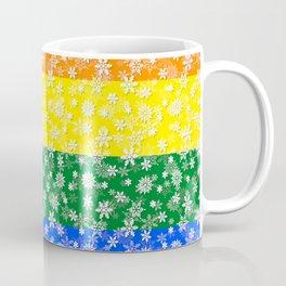 Christmas Pride Bright Festive Rainbow Snowflakes Coffee Mug