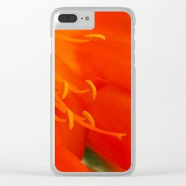 Orange Lily Clear iPhone Case