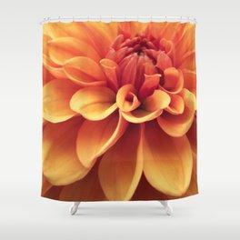 Dahlia design Shower Curtain