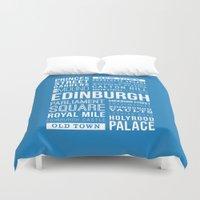 edinburgh Duvet Covers featuring Edinburgh by Just Being Creative
