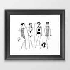 The beach-goers Framed Art Print