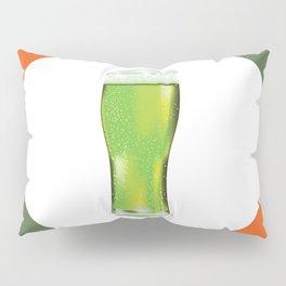 Green beer glass Pillow Sham