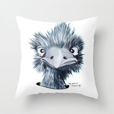 My name is EMU-ly Throw Pillow