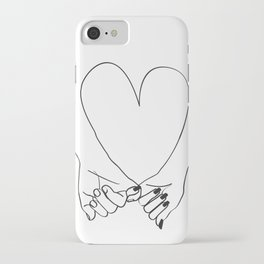 Pinky Promise his and her romantic line art iPhone Case