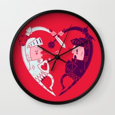 All Is Fair In Love And War Wall Clock