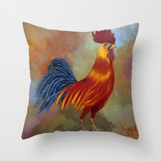 Rooster-3 Throw Pillow