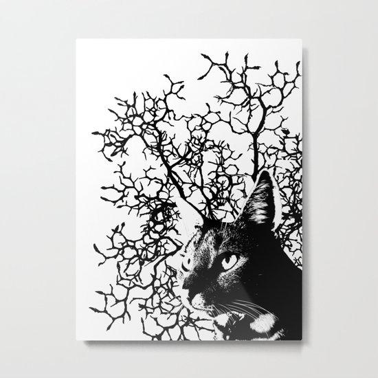 Magnolia Cat Metal Print