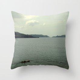 off to sea Throw Pillow