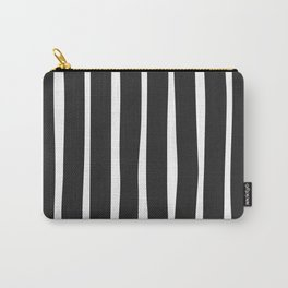 Simple Stripes Black N White Carry-All Pouch