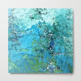 My Tranquil Sanctuary: Abstract Art In Elegant Blues Metal Print