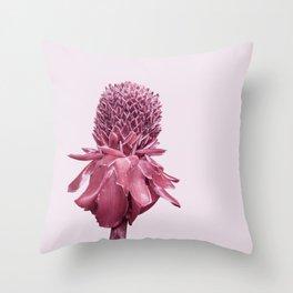 Monochrome - Banana blossom Throw Pillow