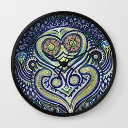 Inner Light / Psychedelic Owl Wall Clock