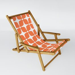 Mid Century Modern Star Pattern Orange 2 Sling Chair
