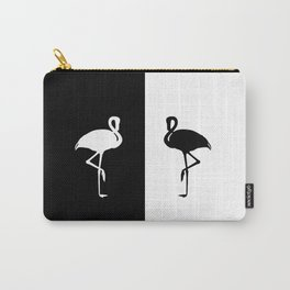 Flamingo black and White Carry-All Pouch