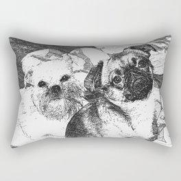 Griffon Bruxellois & Griffon petit brabancon 5 Rectangular Pillow