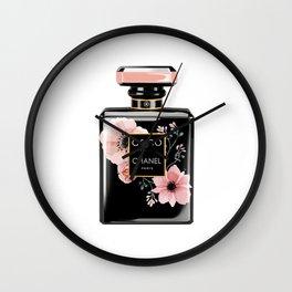Perfume Bottle Coco Noir: Peach Wall Clock
