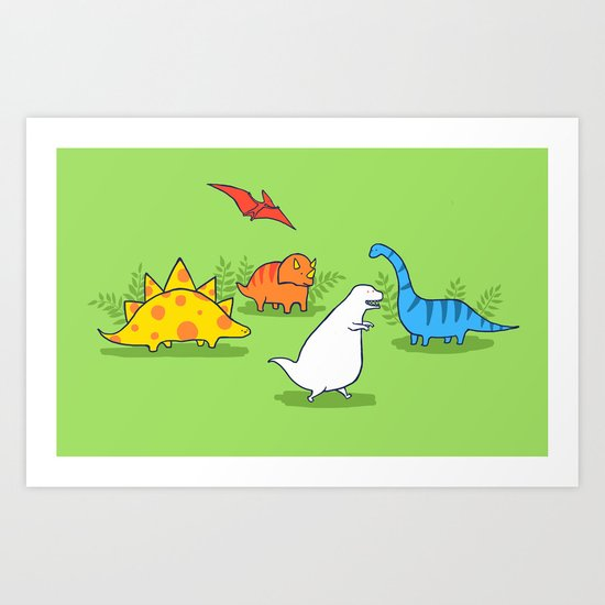 Albinosaur Art Print