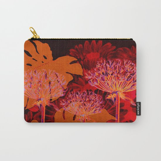 floral and leaves Carry-All Pouch