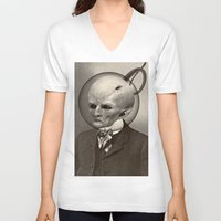earthbound V-neck T-shirts featuring EARTHBOUND MISFIT by Julia Lillard Art