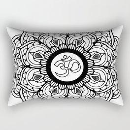 Om Hindu sacred sound symbol Mandala Rectangular Pillow