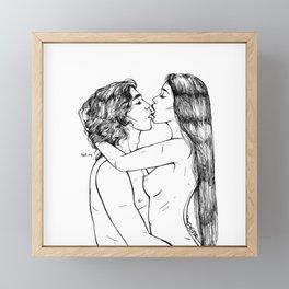 Our night №3 Framed Mini Art Print
