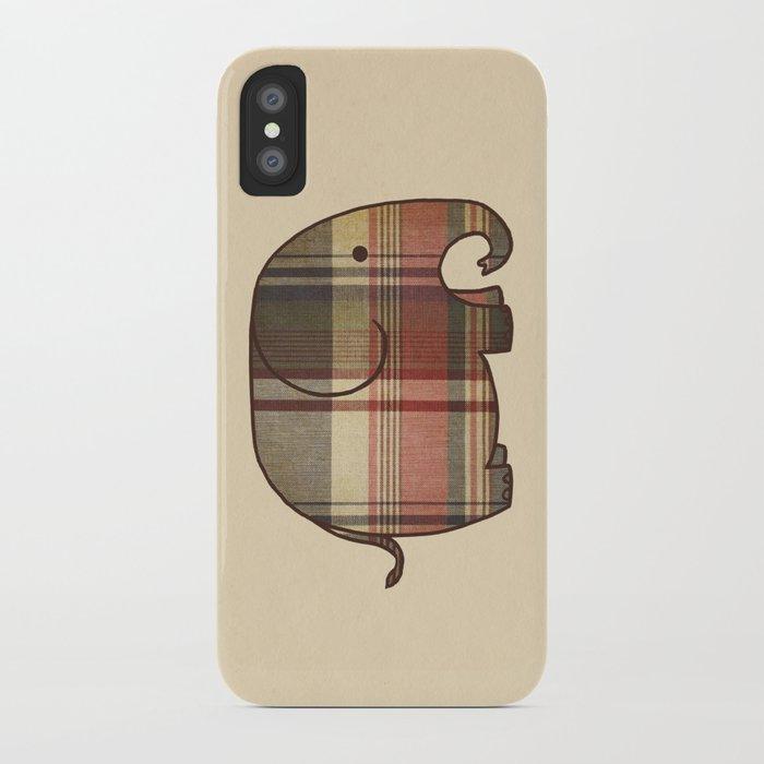 Plaid Elephant  iPhone Case