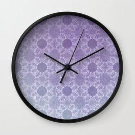 Elegance in Lavender Wall Clock