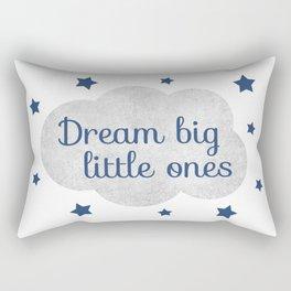 Dream big little ones (navy) Rectangular Pillow