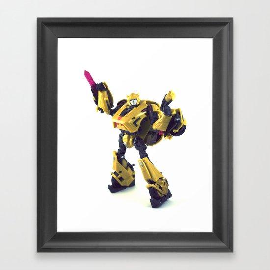 Never underestimate the little guy Framed Art Print