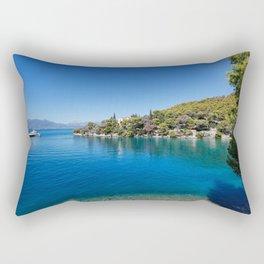 The Love bay in Poros island, Greece Rectangular Pillow