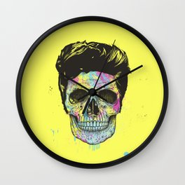 Color your death Wall Clock